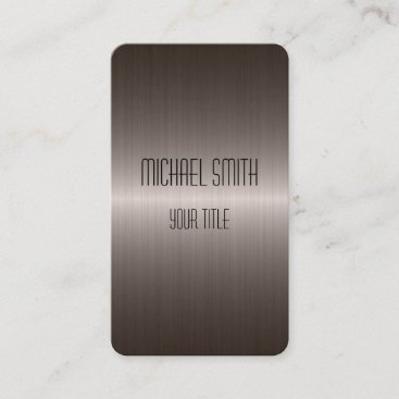 Cool Stainless Steel Metal Business Card
