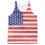 ❤️ Cool USA Flag Modern 4th of July Patriotic All-Over-Print Tank Top