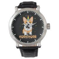 Corgi Unicorn - Corgicorn - Cute Dog Cartoon Wrist Watch