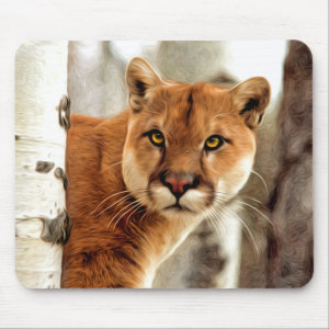 Cougar Photo Painting Mouse Pad