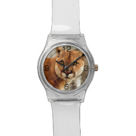 Cougar Photo Painting Wrist Watches