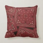 Country Barn Red Bandana Pattern Mojo Throw Pillow Zazzle Com