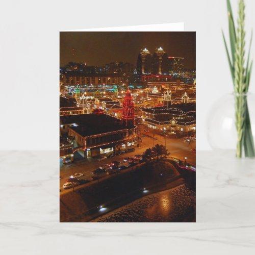 Country Club Plaza, Kansas City, Holiday Lights card