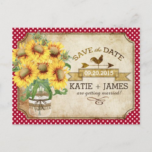 Country Picnic Sunflower Gingham Wedding Collection by Nou Designs