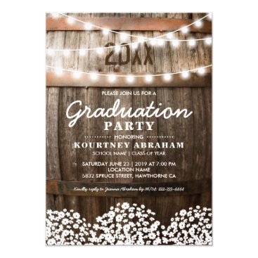 Country Rustic Graduation Party | Class of 2018 Invitation