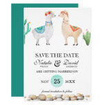Couple Llama Wedding Save the Date Announcement
