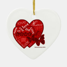 Couple's Love (Personalize) - Heart Ornament