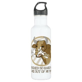 Cow Milk Out My Nose Water Bottle