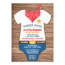 Farmparty Us Cowboy Baby Shower Invitations