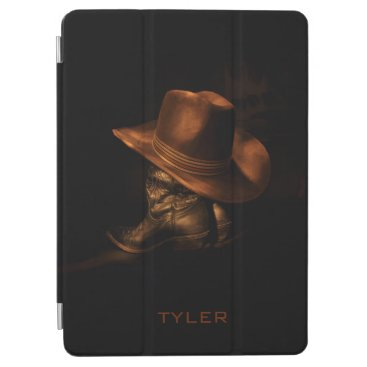 Cowboy Hat and Leather Boots Masculine Personalize iPad Air Cover