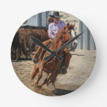 cowgirl round clocks
