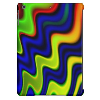 Crazy Abstract Blue,red,blk,yellow iPad Air Case