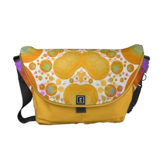 Crazy Abstract Pattern Rickshaw Messenger Bag