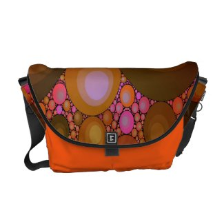 Crazy Abstract Rickshaw Messenger Bags