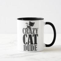 Crazy cat dude mug