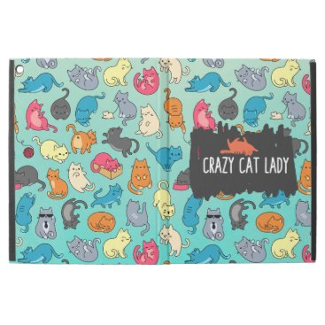 """Crazy Cat Lady Cute and Playful Cat Pattern iPad Pro 12.9"""" Case"""