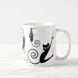 Crazy Cat Lady Mug, With Stylish Cats Coffee Mug