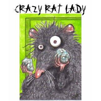 CRAZY RAT LADY FUNNY RATS shirt