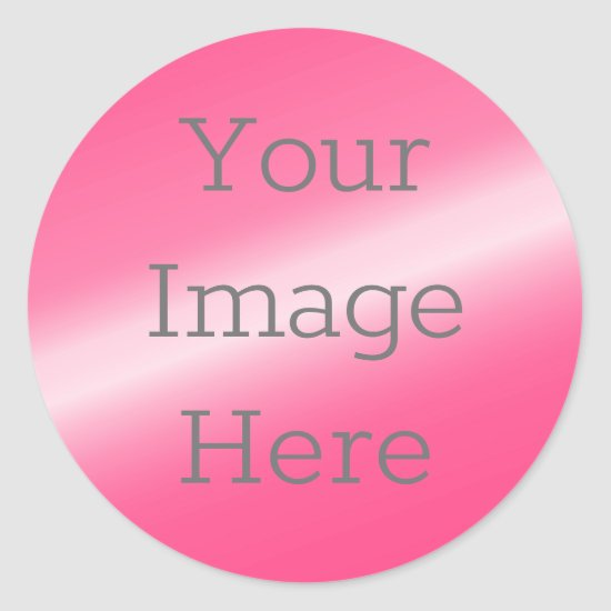 Create Your Own Metallic Hot Pink Faux Foil Classic Round Sticker