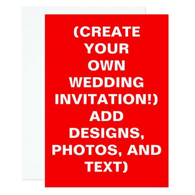 Make Your Invitations