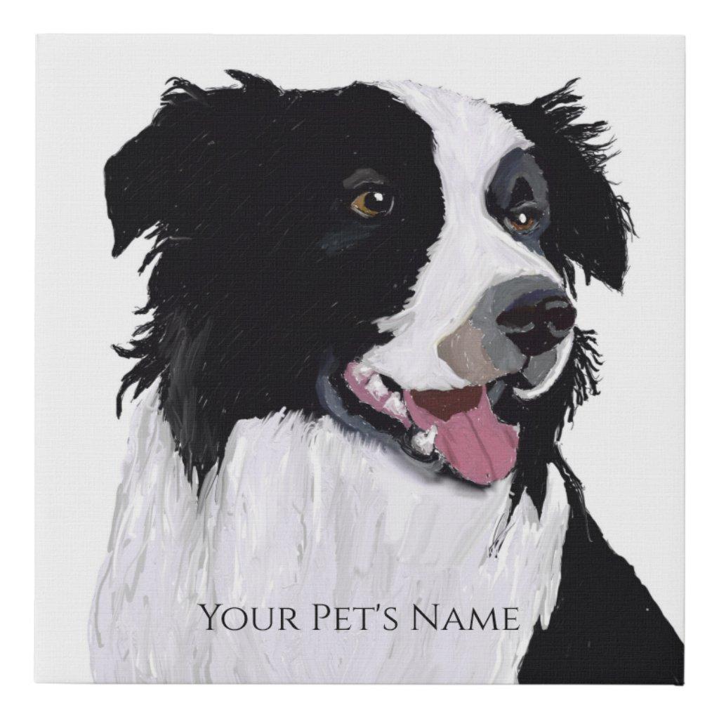 Create Your Pet's Portrait with a Photo Faux Canvas Print