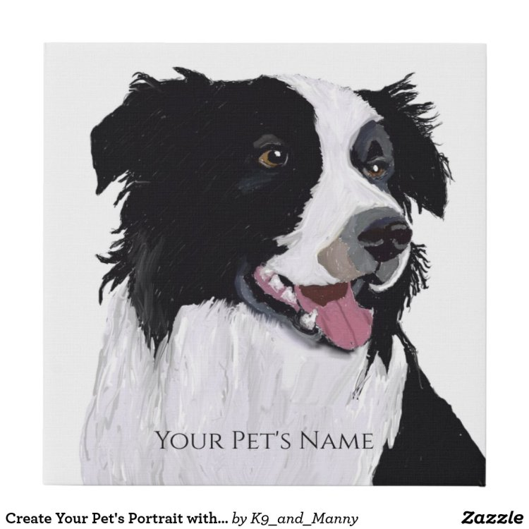 Create Your Pet's Portrait with a Photo Faux Canvas Print