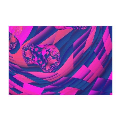 Creating Worlds – Abstract Fractal Magenta Magic Canvas Print