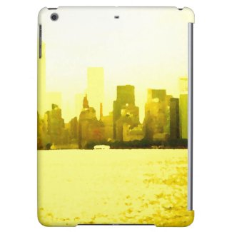 CricketDiane iPad Case NYC Skyline City Gold