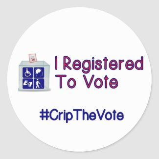 #CripTheVote I REGISTERED stickers (round) large