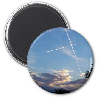Cross at Sunset Magnet magnet