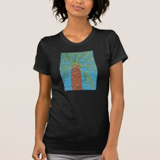 Cross Stitched Palm Tree Shirt by Julia Hanna
