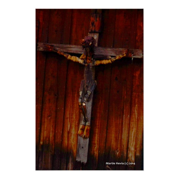 Crucifix on Wood