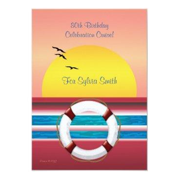 Cruise Birthday Invite - Sunset Design