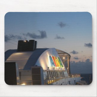 Cruise Ship AIDAluna  - Caribbean Sunset Mousepad