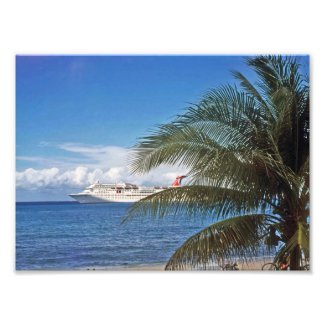 Cruise ship photo print