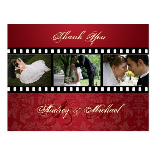 Crushed Red Velvet/Photos Thank you postcards