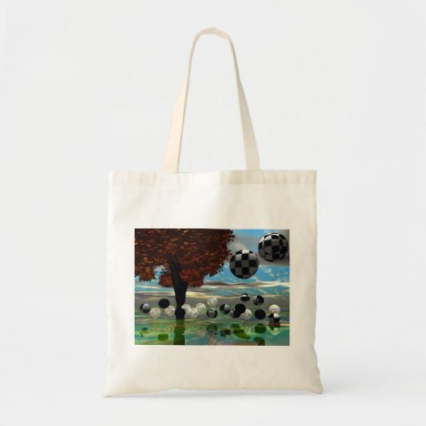 Crystal Garden, Abstract Green Gold Light Tote Bag