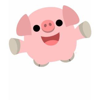 Cuddly Cartoon Pig Children T-shirt shirt