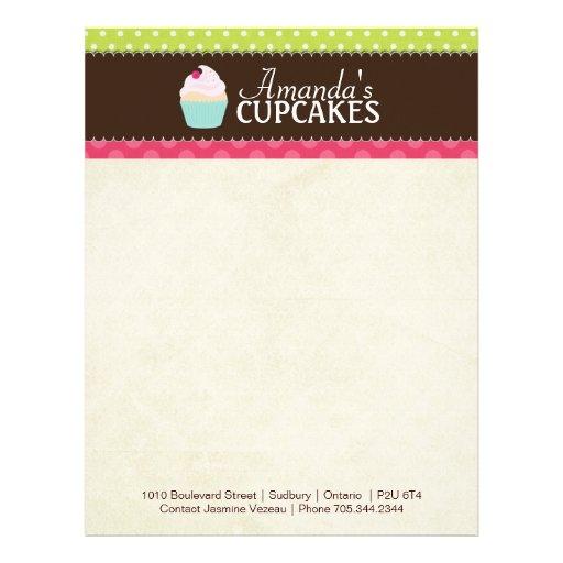 Cupcake Bakery Letterhead Zazzle