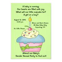 Cupcake Gender Reveal Invitation