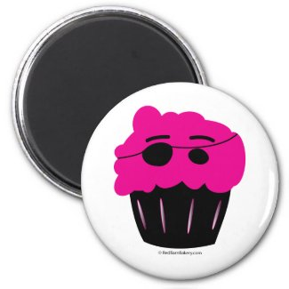 Cupcake Pirate magnet