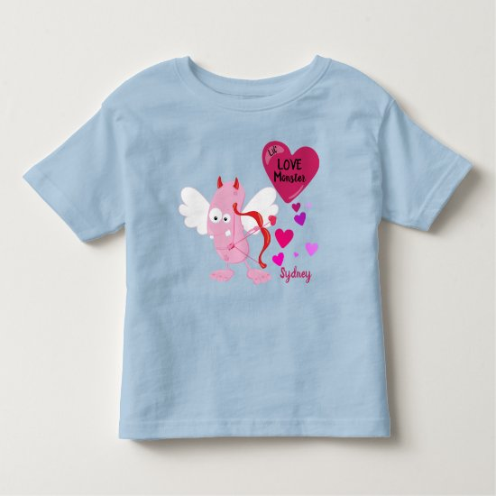 Cupid Like Lil Love Monster Holding Bow & Arrow | Toddler T-shirt