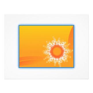 Curly Sunshine Customizable Design Letterhead Template