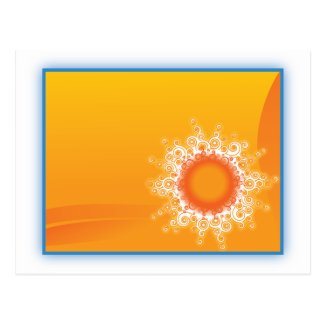 Curly Sunshine Customizable Design Postcard