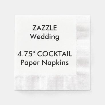 "Custom 4.75"" COCKTAIL Disposable Paper Napkins"