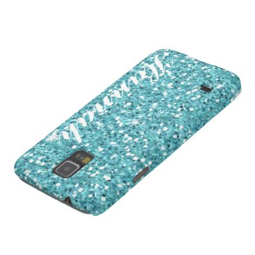 custom Aqua Glitter Samsung nexus Case