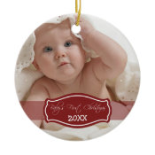 Custom Baby's First Christmas Ornament (red) ornament