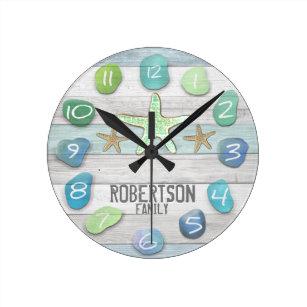 driftwood wall clocks zazzle