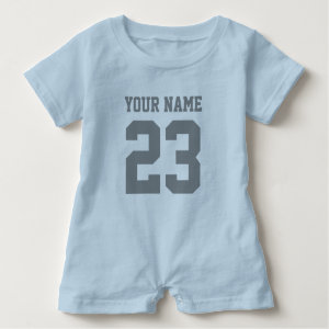 Custom boys sports football jersey baby romper
