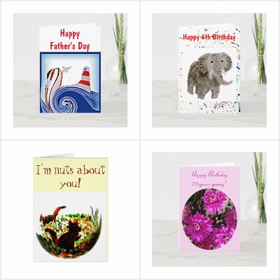 Custom Cards with Animal Illustrations